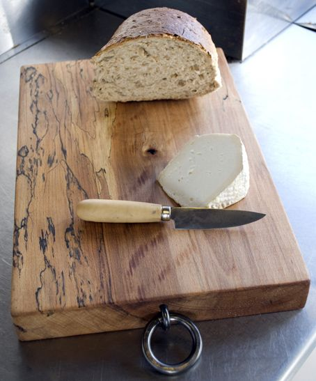 Chopping Board with Forged Ring | Alex Pole Contemporary Ironwork