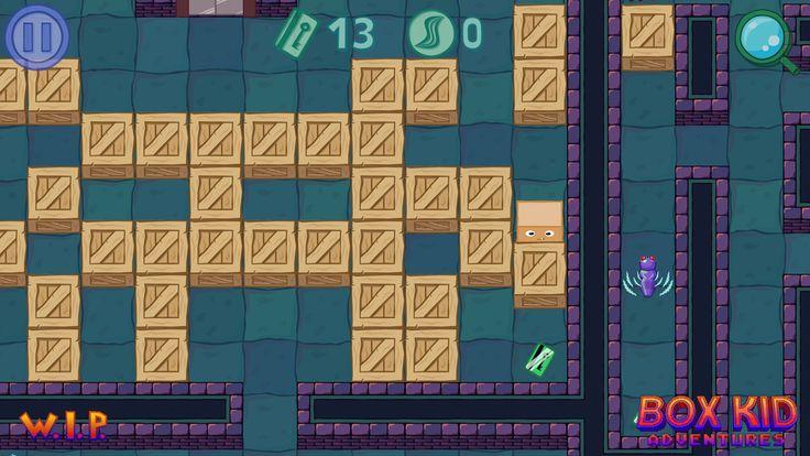 Screenshot from the Box Kid Adventures. #screenshotsaturday #gamedev #indiedev #GameMaker #indiegames #polishgamedev