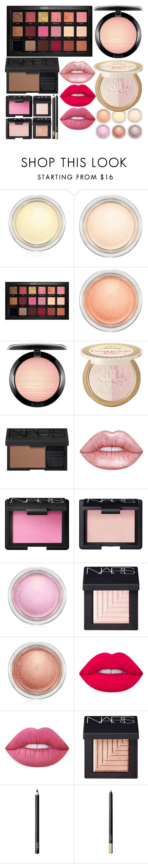 """""""Pink Summer Makeup"""" by arianasinger ❤ liked on Polyvore featuring beauty, MAC Cosmetics, Huda Beauty, Power of Makeup, NARS Cosmetics and Lime Crime"""