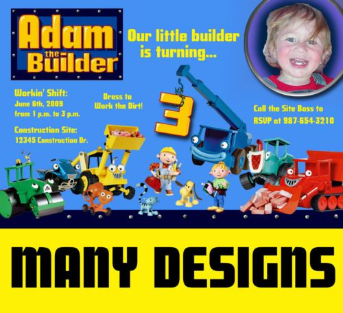 71 best party ideas images – Bob the Builder Party Invitations