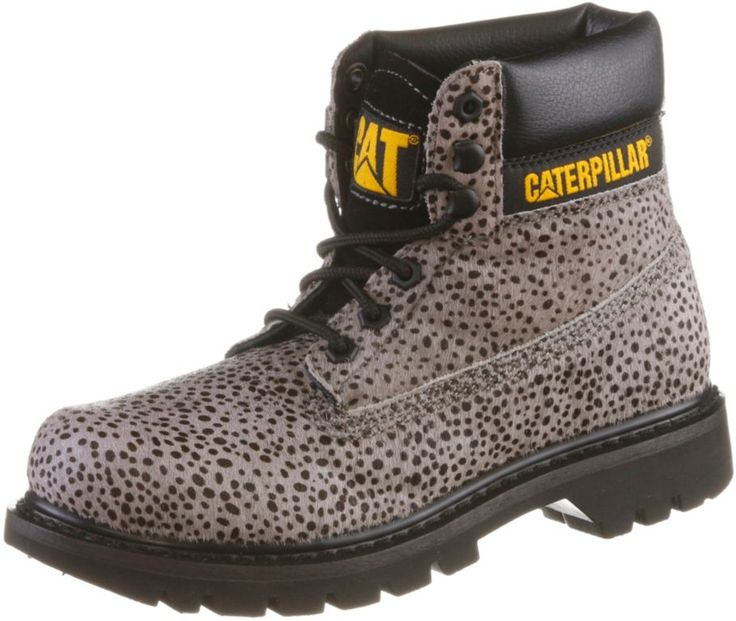 #CATERPILLAR #Colorado #Calf #Fur #Schnürstiefel #Damen #hellgrau