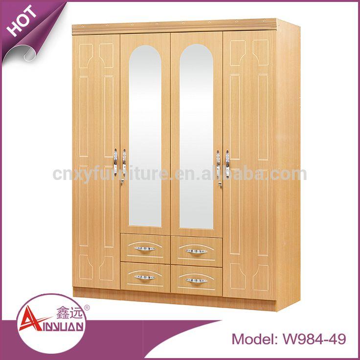 Inspirational Home Furniture bedroom closet door wardrobe MDF wardrobe cabinets with mirror Bedroom T rigen KleiderschrankSchlafzimmer