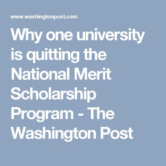 Why one university is quitting the National Merit Scholarship Program - The Washington Post