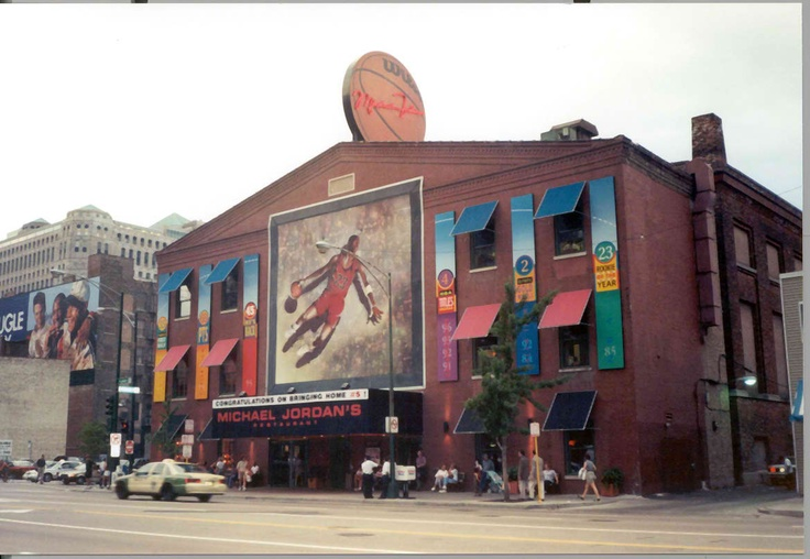 Micheal Jordan's Restaurant. Chicago.  Ate there twice when I was in Chicago.  He was not there but other famous sports people were.