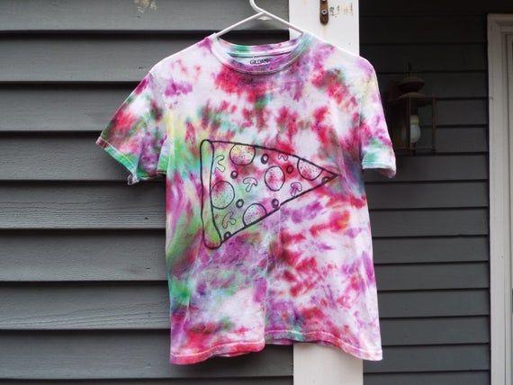 Kids Pizza Shirt, Childrens Large Tie-Dye Shirt for the Pizza Lover, Kids Pizza Party, Tie Dye Pizza