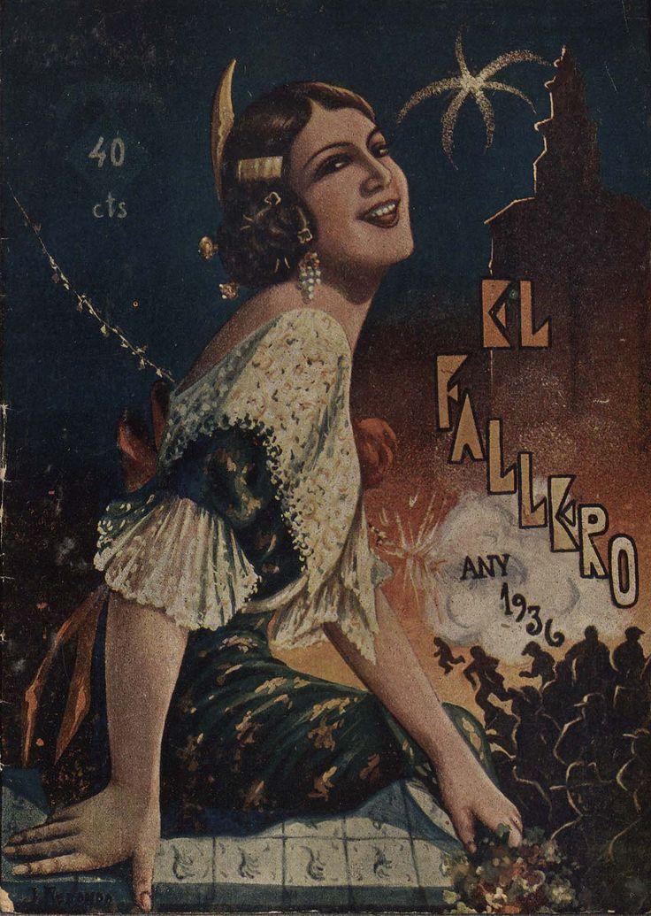 Cubierta de la revista El fallero,  nº 16, año 1936