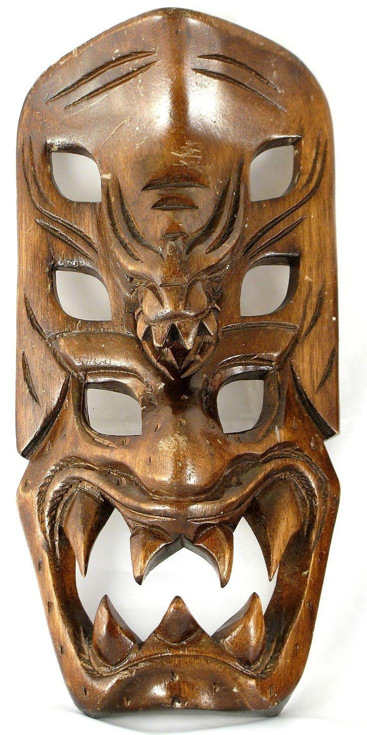 Headhunters Of Philippines Tribal Mask Dragon Demon Ifugao
