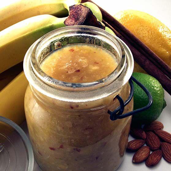 Bananmarmelade -http://www.dansukker.dk/dk/opskrifter/bananmarmelade.aspx #dansukker #opskrift #lækkert #marmelade #banan #snack #spis #eat
