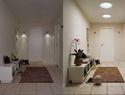 Ein heller Flur wirkt viel einladender: Hier belichten zwei Tageslicht-Spots den Eingangsbereich der Wohnung. •VELUX Tageslicht-Spot: ab 374,- Euro (inkl. MwSt.)