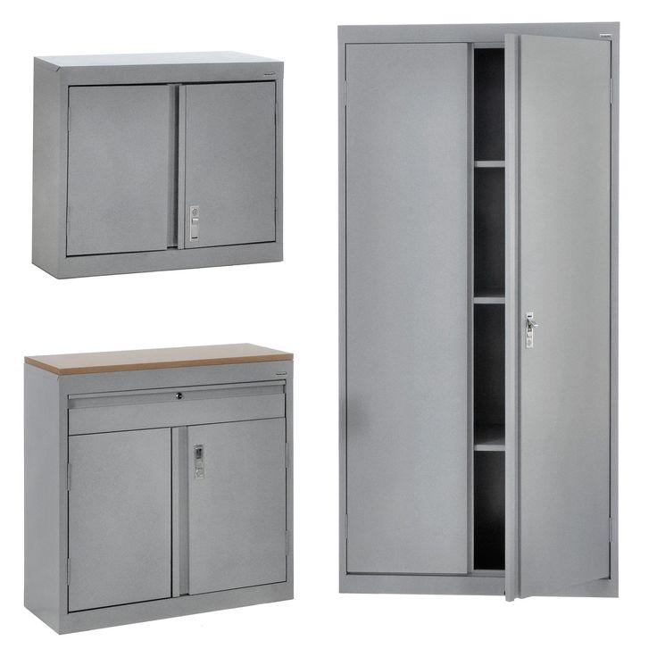 Have to have it. Edsal 3-in-1 Garage Storage Cabinet Set - $799.99 @hayneedle.com