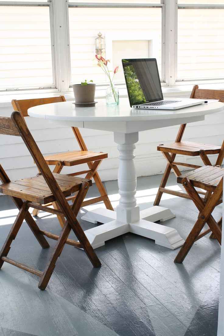 Fancy chairs fancy cardboard chairson home interior design ideas with - Wooden Folding Chairs Ikea Vintage Wooden Desk Chair Chic Round Dining Table Painted In White Combined Home Designsunroomdesk
