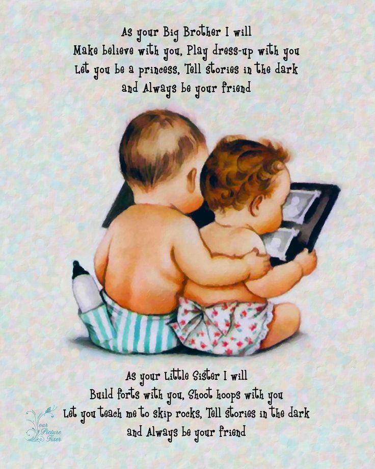 Artwork -Brother and Sister Poem. $13.00, via Etsy.