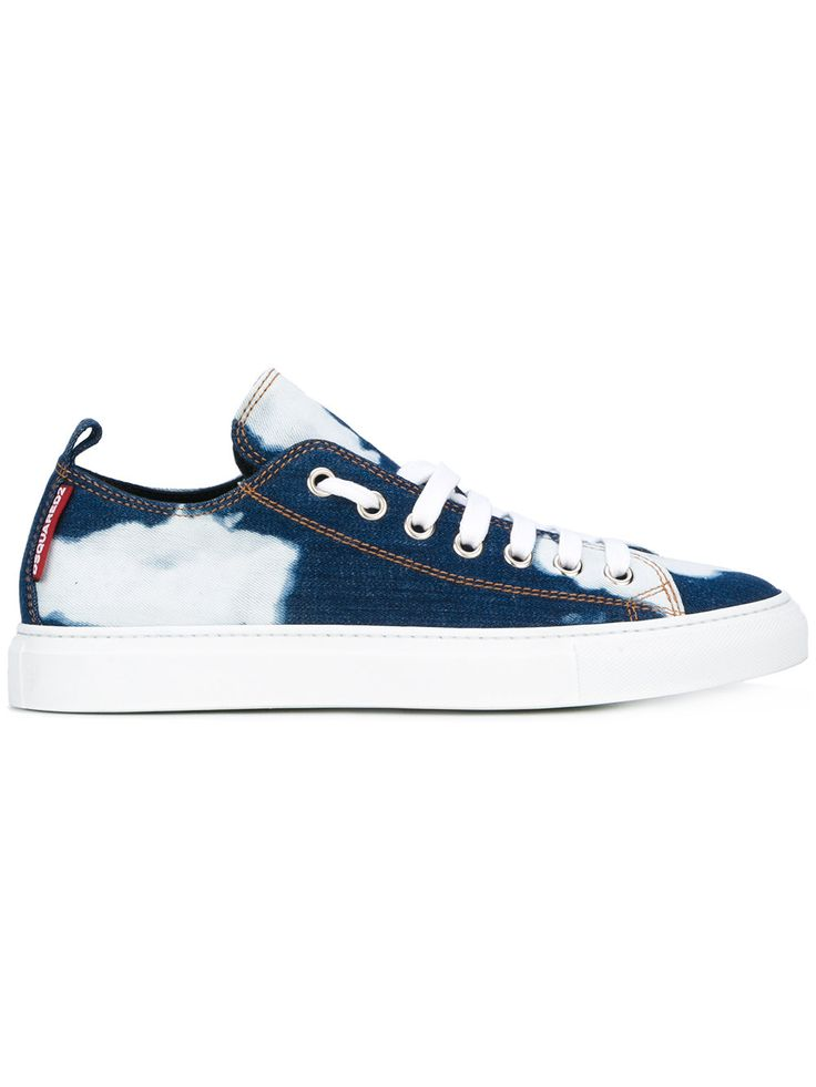 Dsquared2 bleached denim Basquette sneakers