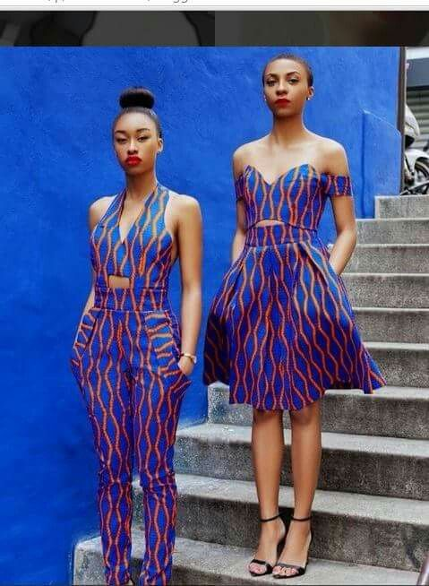 I fabric, many many possibilities..both look great! I'd probably go for the jumpsuit