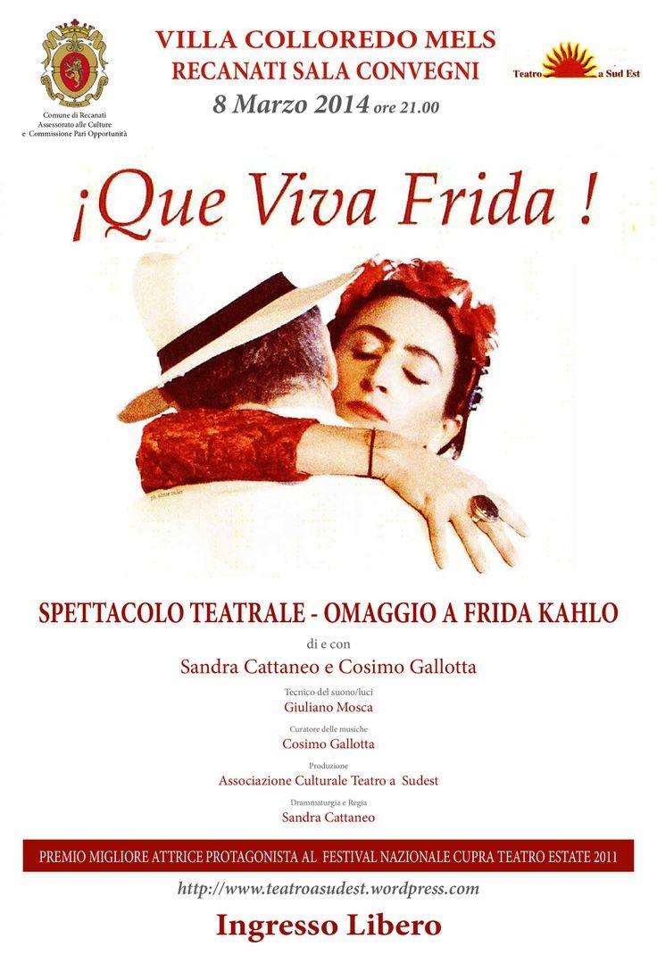 Donne...e non solo, vi aspettiamo sabato 8 Marzo per uno spettacolo dedicato alla grande Frida Kahlo! http://www.villacolloredomels.it/¡que-viva-frida.html
