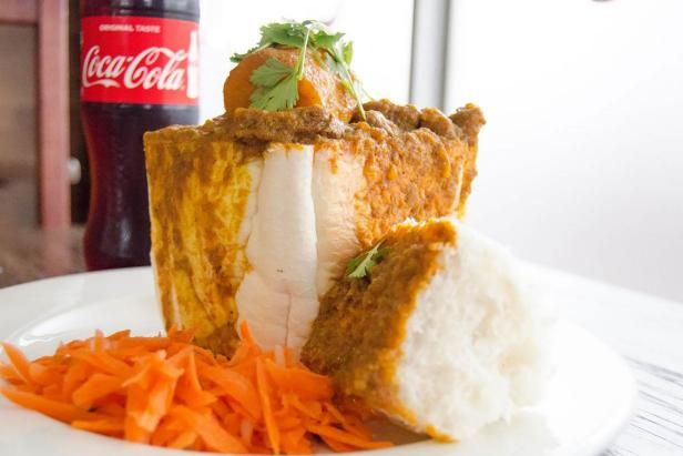 Bunny chow at CaneCutters in Durban, South Africa