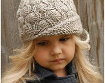 Knitting PATTERN-The Harmony Cloche' (Toddler, Child, Adult sizes)