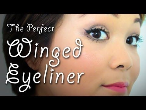 The Perfect Winged Eyeliner | Makeup Tips | Lazy Girls' Guide To Beauty - YouTube