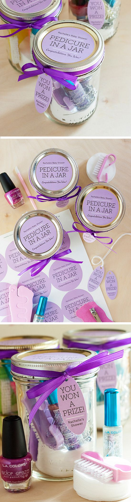 Pedicure in a Jar | Click Pic for 22 DIY Valentine Gifts in a Jar for Men | DIY Valentine Gifts for Friends