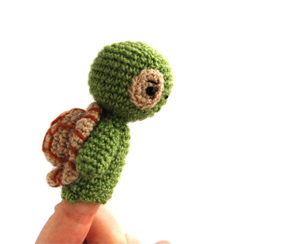 $21.64  TURTLE crochet puppet, #little #amigurumi #toy, #gift for #preschooler, #develop #fine #motor #skills, #Montessori #practical #life, #mini #turtle #doll