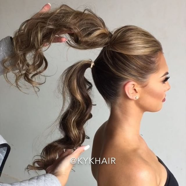 Best 25 pony tails ideas on pinterest ponytail ponytail 21 instagram hair hacks that are borderline genius curled ponytail hairstyleshair pmusecretfo Image collections