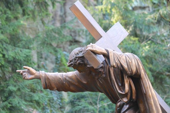Jesus Carrying Cross Christian Art Religious Photography by #NancyJCreates - Print prices start at $7 - Use #coupon code PIN10 for 10% off anything in my Etsy shop.