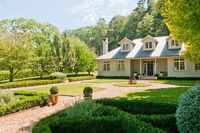 Bowral, NSW Baynton Cottage in the Southern Highlands is a two bedroom cottage with tranquil interiors surrounded by beautiful gardens.