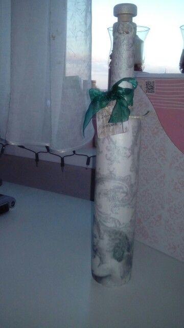 Urodzinowa butelka na voucher