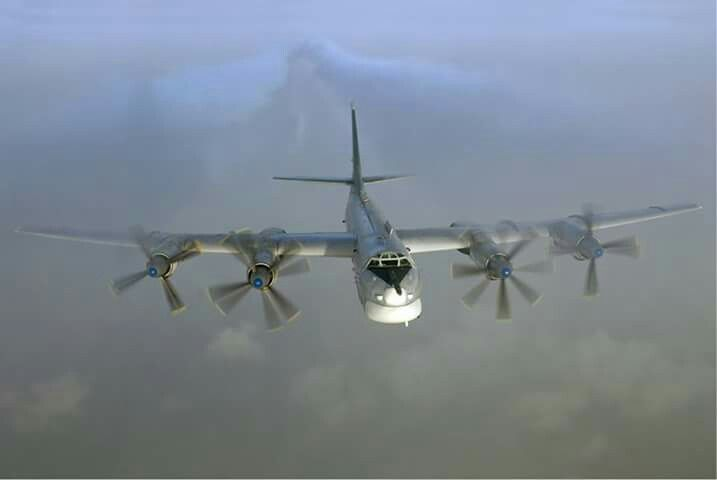 Russian Air Force Tupolev Tu-95MS (16 RED, cn 461810) in-flight over Russia.