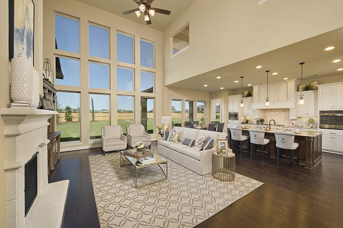 Perry Homes Firethorne Model Home Design 4931s In Katy Tx Living Spaces Pinterest