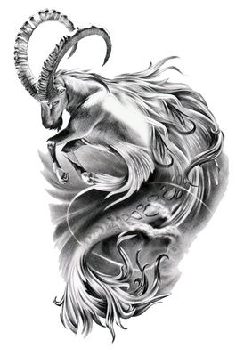 Capricorn Zodiac Symbol Tattoo Design and information related to it.