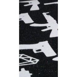 Black Diamond Scooter Grip Tape - Black / White Guns