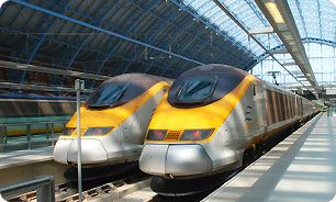 Ride through the Chunnel from London to Paris