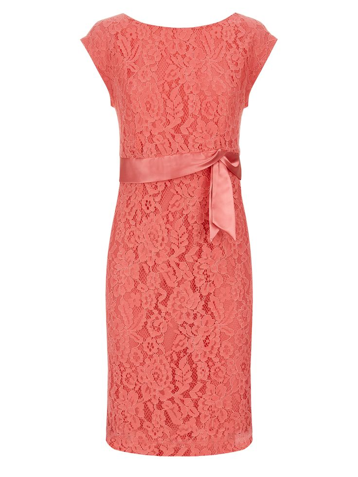 Now reduced to an amazing €65!! Vintage lace coral dress offers a flattering way to to wear a bright spring shade. With a V neckline at the back and satin ribbon detailing, this dress offers a flattering silhouette €199.