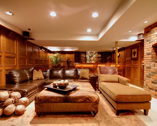 Basement Man Cave Design Pictures Remodel Decor And