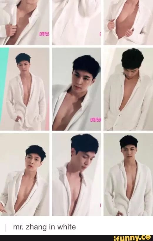 Why not take the shirt off? I mean, it is half buttoned....