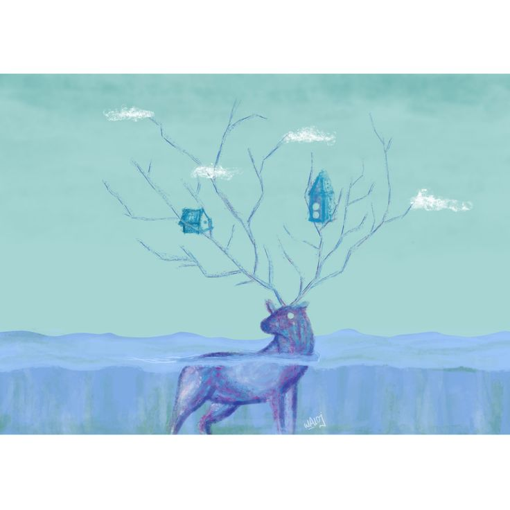 Obra completa #elciervo #illustration #ilustracion #dibujo #drawing #draw #color #cold #animal