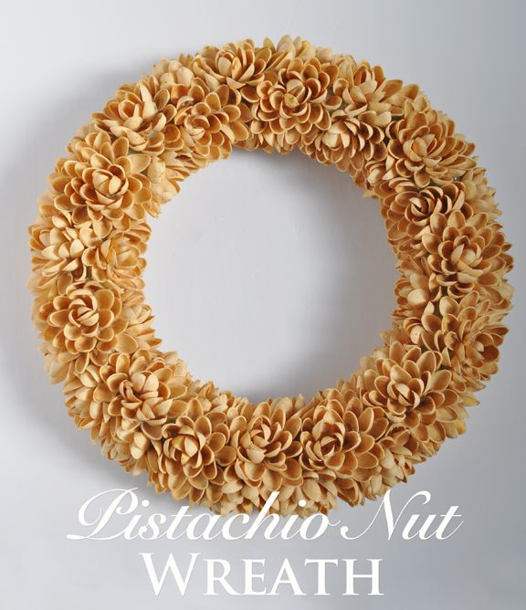 Three Dogs in a Garden @ Home: Faux-Succulent & Neutral Pistachio Nut Wreath