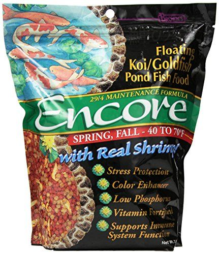 Brown's Encore floating Koi/Goldfish food is an enhanced show-quality maintenance food designed for professional enthusiasts and novices alike. This revolutionary diet offers superior nutrition dig...