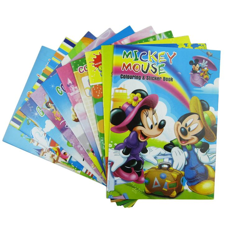 5 PCS coloring books for children with sticker pens educational toys skechers painting for kids new year christmas gifts