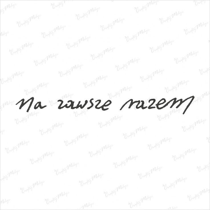 Stempel napis - Na zawsze razem