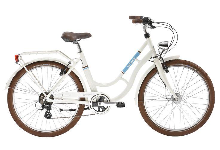 Vélo de Ville Femme Gitane Zumba - Shimano Altus 7V Blanc / Bleu 2017   Alltricks.fr