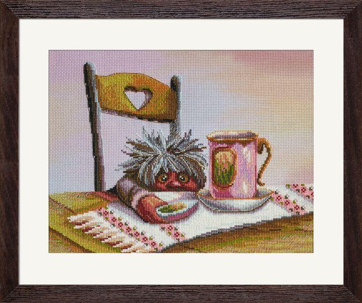 СВ3046 Tasty dessert. Cross stitch kits with canvas with printed