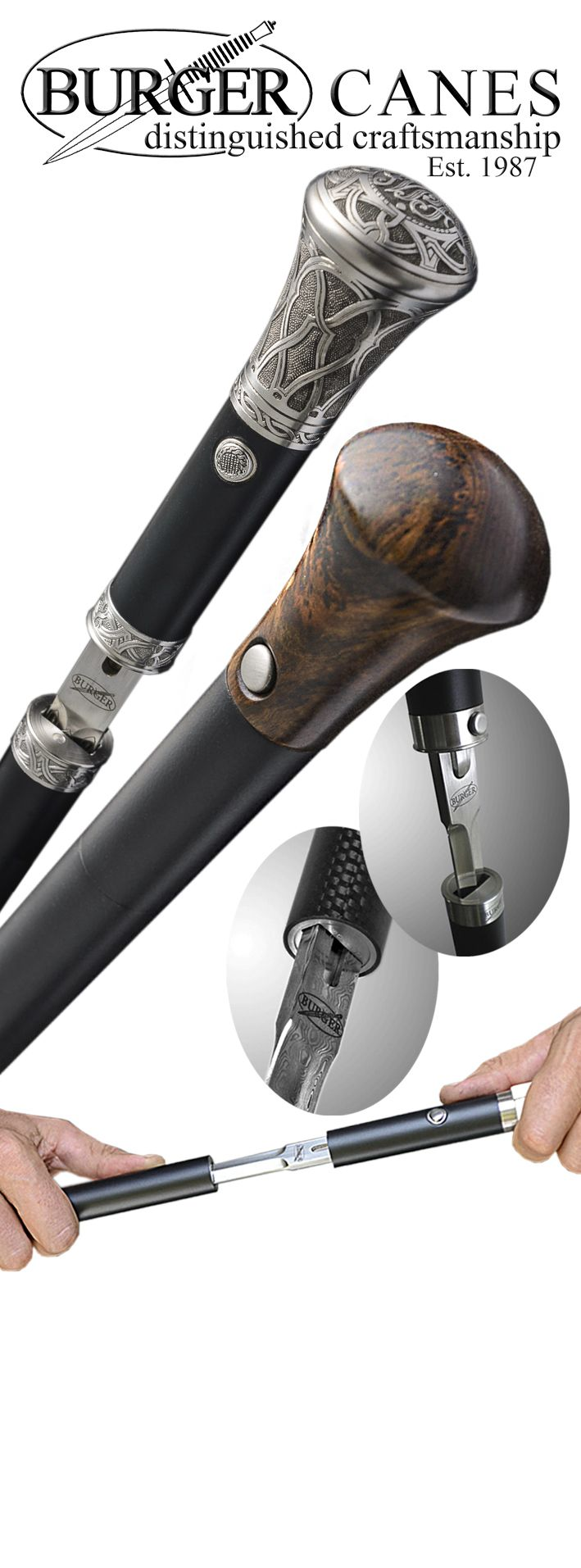 Welcome to the Official Web Site of Burger Sword Canes-Walking Sticks - Home Page