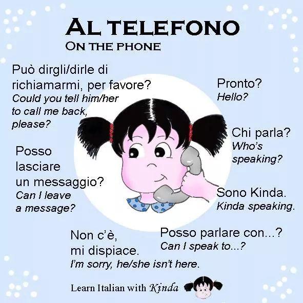 Al Telefono Imparare L Italiano Italia E Istruzione