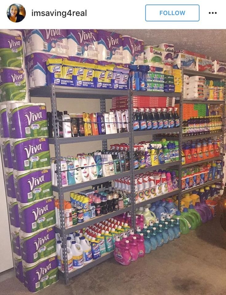 Couponing stockpile inspiration