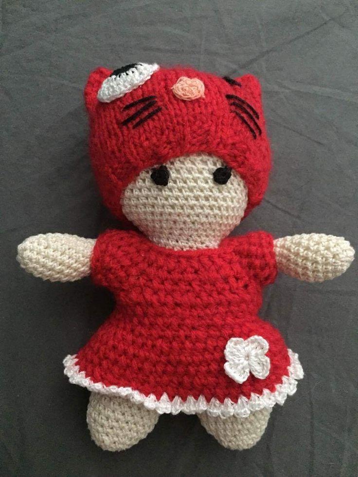bábika háčkovaná pískacia _whistling crochet doll