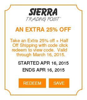 Sierra trading coupon code