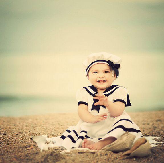Felicità sulla spiaggia  #sailor #kids #marinai #outfit