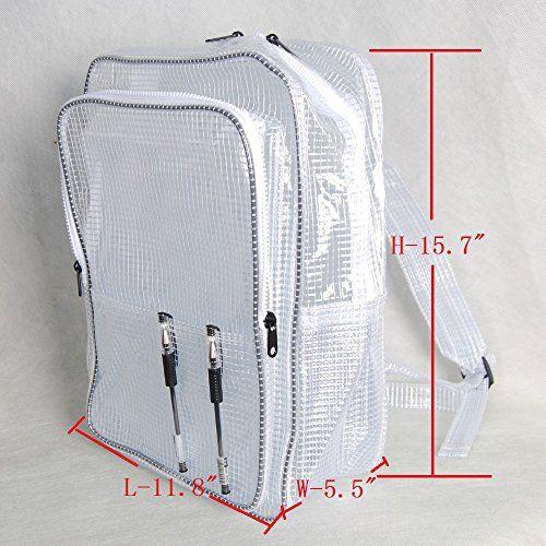 15 7inch 40cm30cm18cm anti-static clear pvc backpack,cleanroom